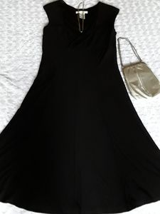 Evan-Picone Black Dressy Dress Stunning Fit
